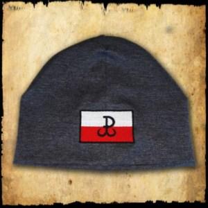czapka polska walcząca szara detal