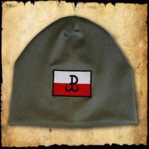 czapka polska walczaca zielona detal