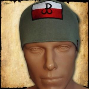 czapka polska walczaca zielona przod