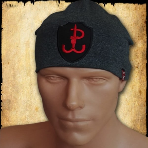 czapka polska walcząca 3 szara
