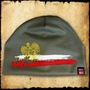 czapka wielka polska zielona detal