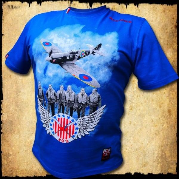 Koszulka męska dywizjon 303 granatowa