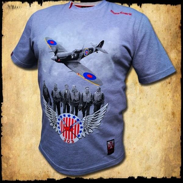 Koszulka męska dywizjon 303 szara