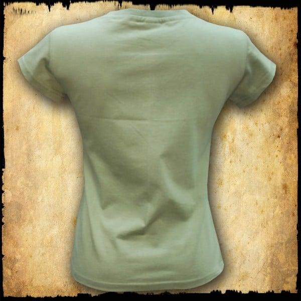 koszulka patriotyczna damska - godło zielona tyl
