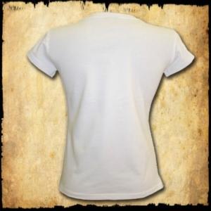 koszulka patriotyczna, damska - godło, biała tyl