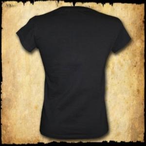 koszulka patriotyczna, damska - godło, czarna tyl