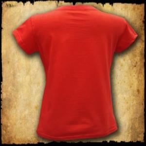 koszulka patriotyczna, damska - godło, czerwona tyl