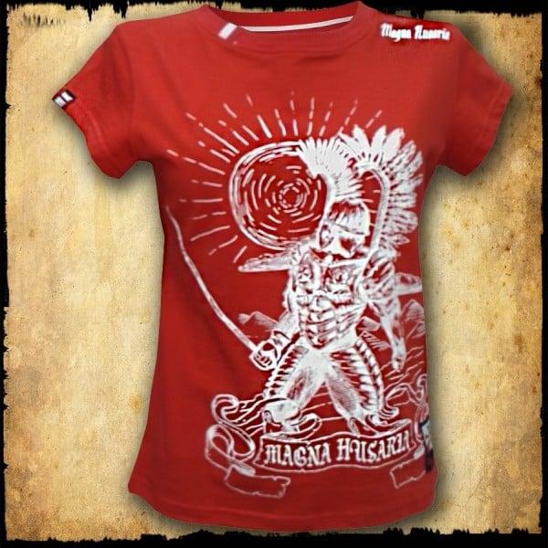 koszulka patriotyczna, damska - husarz, czerwona przod