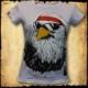 koszulka patriotyczna, damska - luzak, biała przod