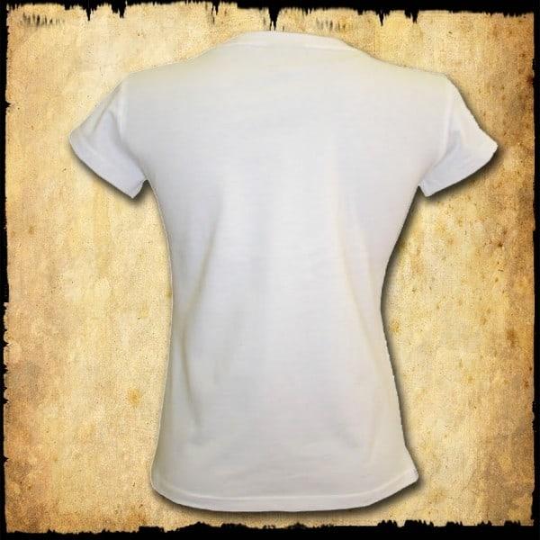 koszulka patriotyczna, damska - luzak, biała tyl