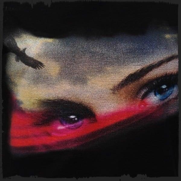 koszulka patriotyczna, damska - oczy polki, czarna detal