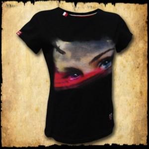 koszulka patriotyczna, damska - oczy polki, czarna przod