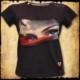 koszulka patriotyczna, damska - oczy polki, szara c. przod