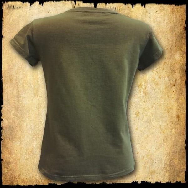 koszulka patriotyczna, damska - pw, zielona tyl