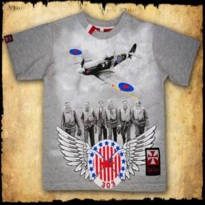 koszulka patriotyczna, dziecięca 303 SZARA
