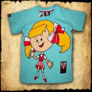 koszulka patriotyczna, dziecięca DZIEWCZYNKA PRZOD SELEDYN