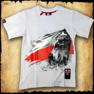 koszulka patriotyczna, dziecięca FLAGA BIALA PRZOD