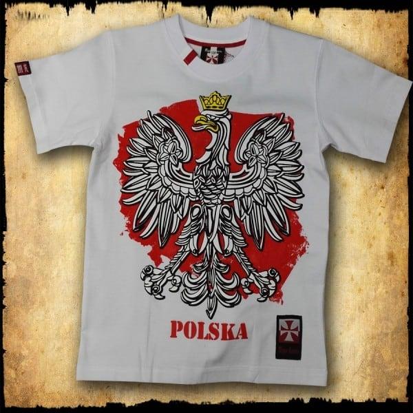 koszulka patriotyczna, dziecięca ORZEL BIALA PRZOD