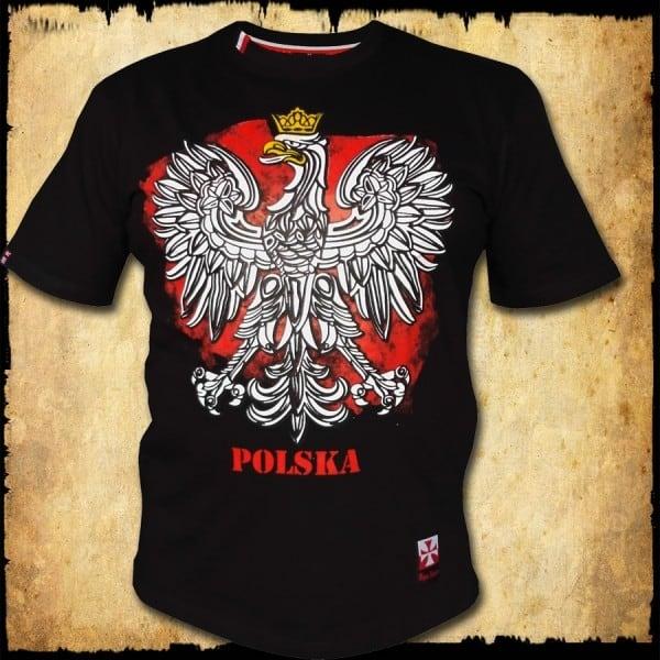 koszulka patriotyczna, dziecięca ORZEL CZARNA PRZOD