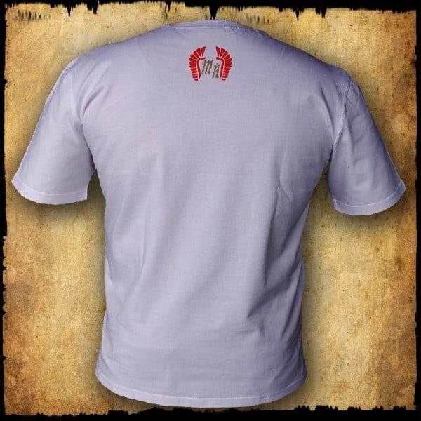 koszulka patriotyczna, męska - godło, biała tyl