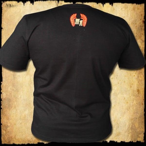 koszulka patriotyczna, męska - godło, czarna tyl