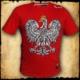 koszulka patriotyczna, męska - godło, czerwona przod