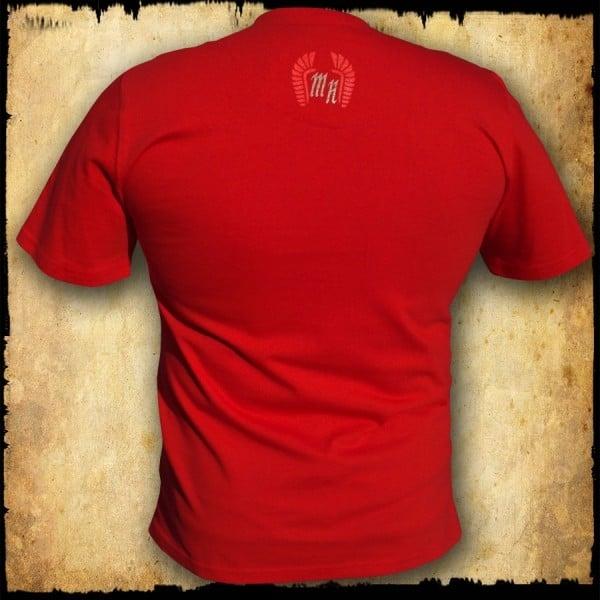 koszulka patriotyczna, męska - godło, czerwona tyl