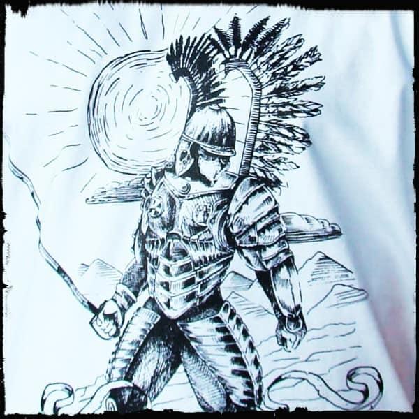 koszulka patriotyczna, męska - husarz, biała detal
