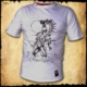 koszulka patriotyczna, męska - husarz, biała przod