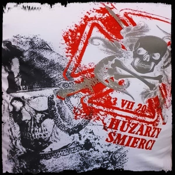 koszulka patriotyczna, męska - huzarzy śmierci, biała detal