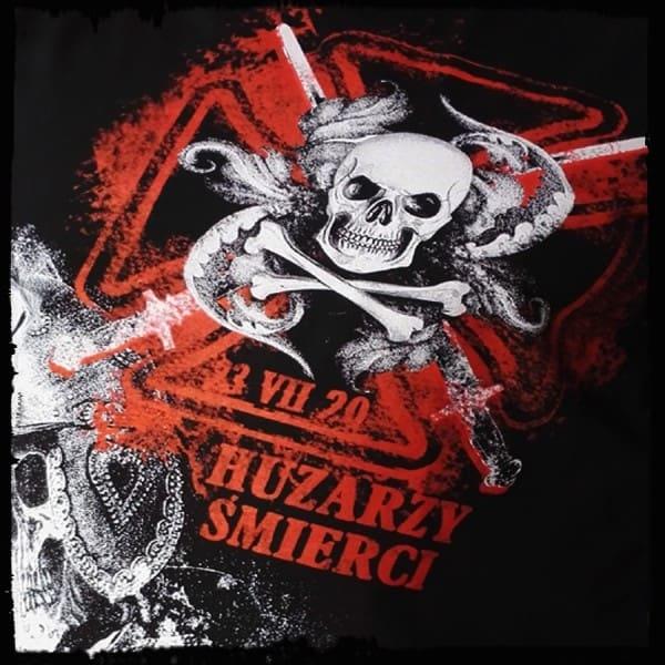 koszulka patriotyczna, męska - huzarzy śmierci, czarna detal