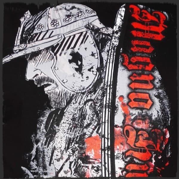 koszulka patriotyczna, męska - magna husaria, czarna detal