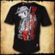 koszulka patriotyczna, męska - magna husaria, czarna przod