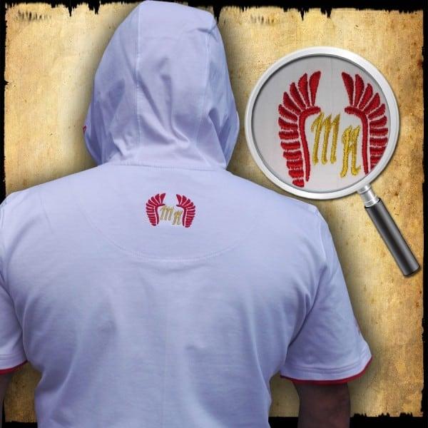 koszulka patriotyczna, męska - POLSKA, biała tyl
