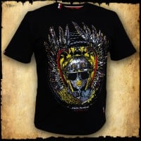 koszulka patriotyczna, męska - szyszak 2, czarna przód
