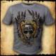 koszulka patriotyczna, męska - szyszak 2, szara spierana przod