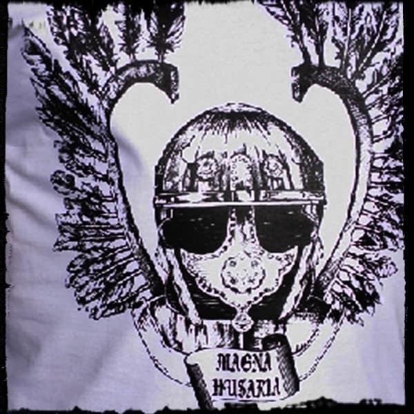 koszulka patriotyczna, męska - szyszak, biała detal