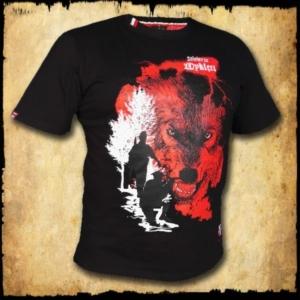 koszulka patriotyczna, męska - wyklęci, czarna przod