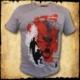 koszulka patriotyczna, męska - wyklęci, szara j. przod